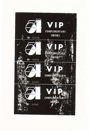 [Andy Warhol Studio 54 Complimentary Drink Invitation]